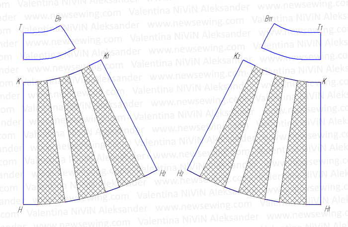 Как сшить юбку по деталям 717