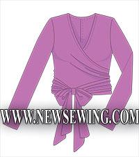Блузка с запахом Готовая выкройка