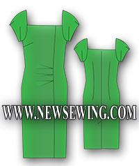 Готовая выкройка летнего платья в пяти размерах. Обхват груди 80-96 см.