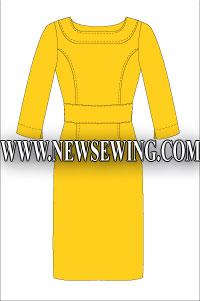 Платье-футляр. Бесплатная выкройка. Мод 2.