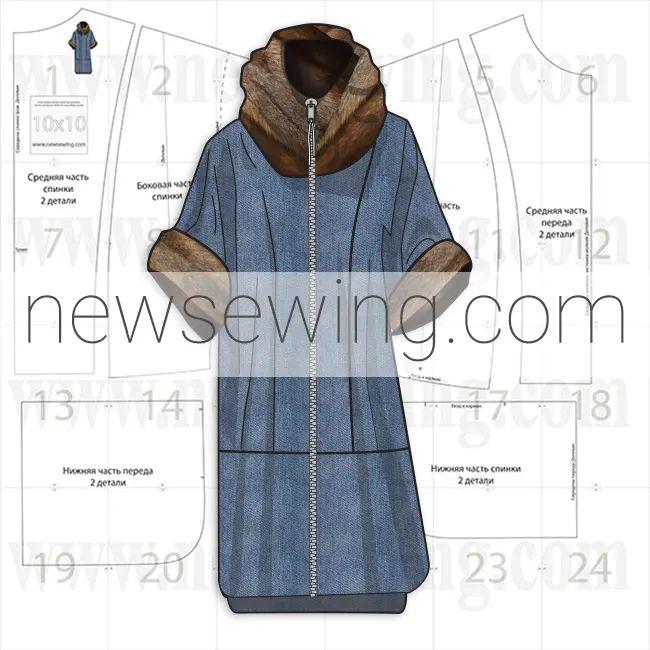 Туника – одежда для межсезонья. Готовая выкройка.
