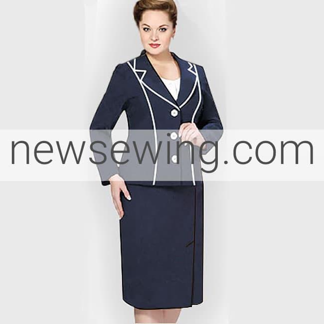 Выкройка юбки к деловому костюму для полных женщин