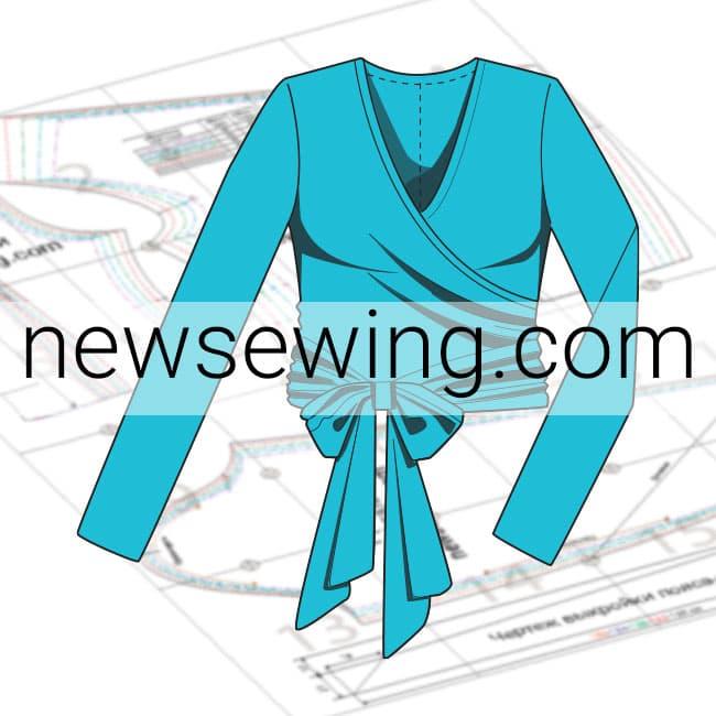 Выкройка блузки с запахом пять размеров скачать бесплатно